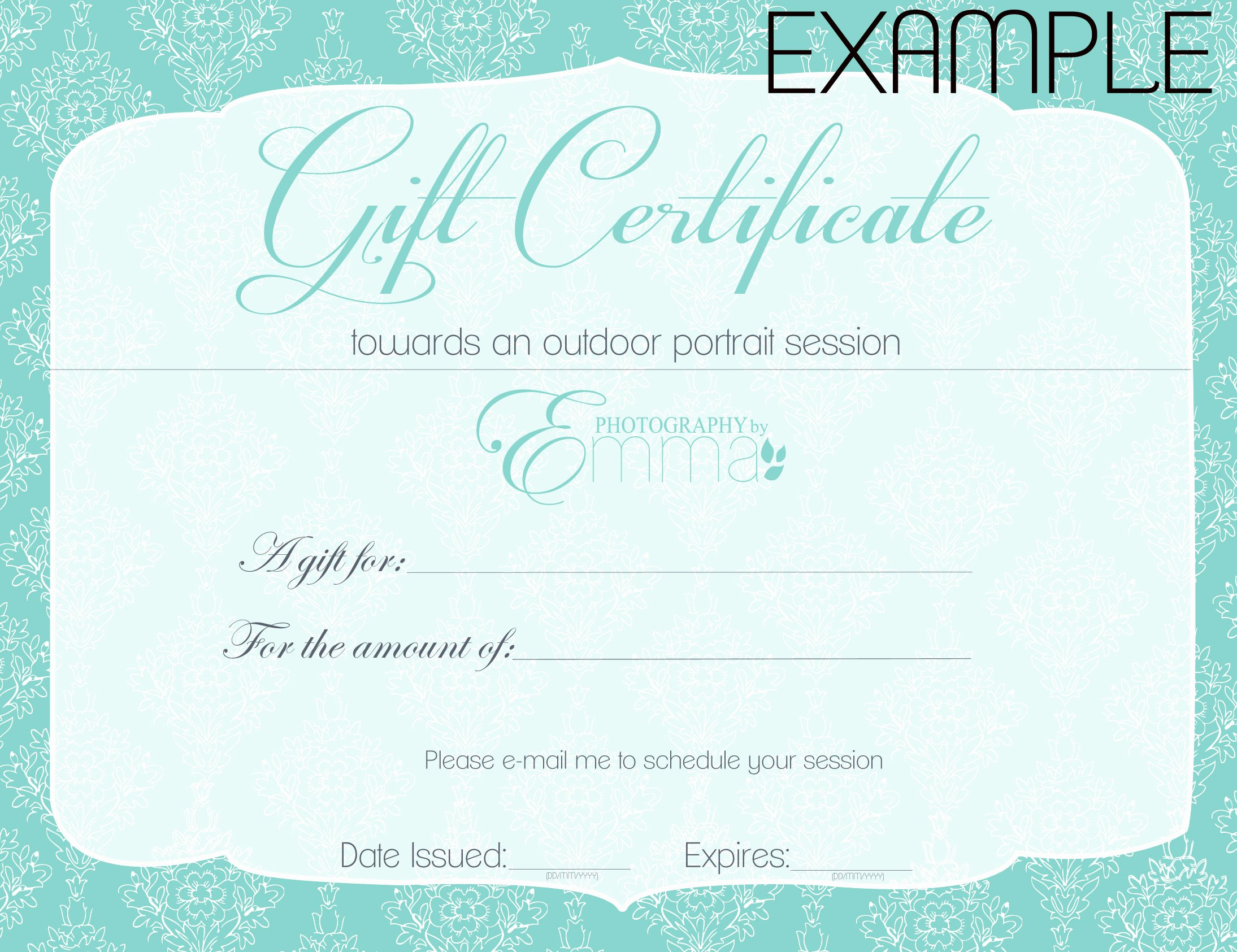 Gift Certificate Wording Luxury Gift Certificate Wording Cake Ideas and Designs