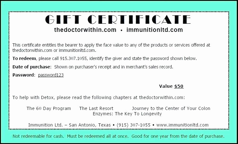 Gift Certificate Wording Unique Ideas for This Certificate Entitles the Bearer Template