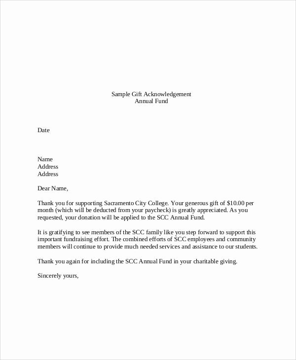 Gift Money Letter Template Awesome Sample Gift Letters 45 Examples In Pdf Word