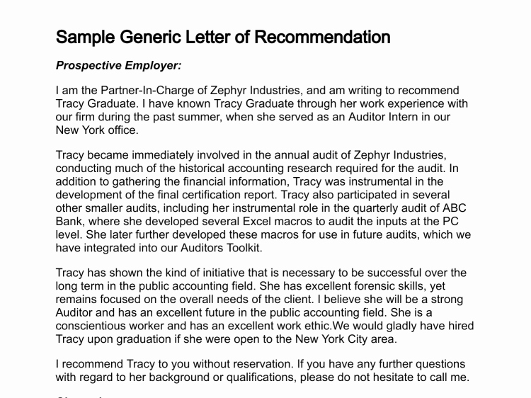Glowing Letter Of Recommendation Elegant How to Write A Letter Of Re Mendation