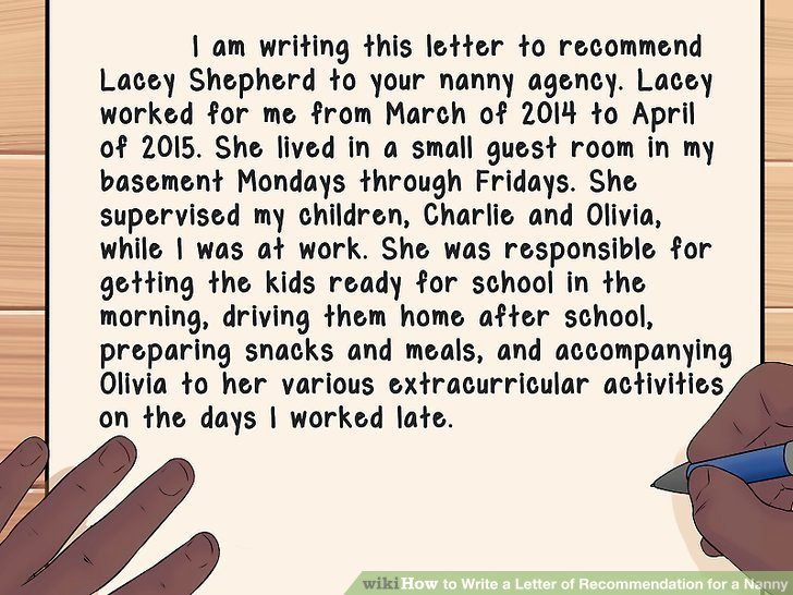 Glowing Letter Of Recommendation Fresh How to Write A Letter Of Re Mendation for A Nanny with