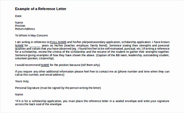 Glowing Letter Of Recommendation Unique Reference Letter Template Details You Should Include when