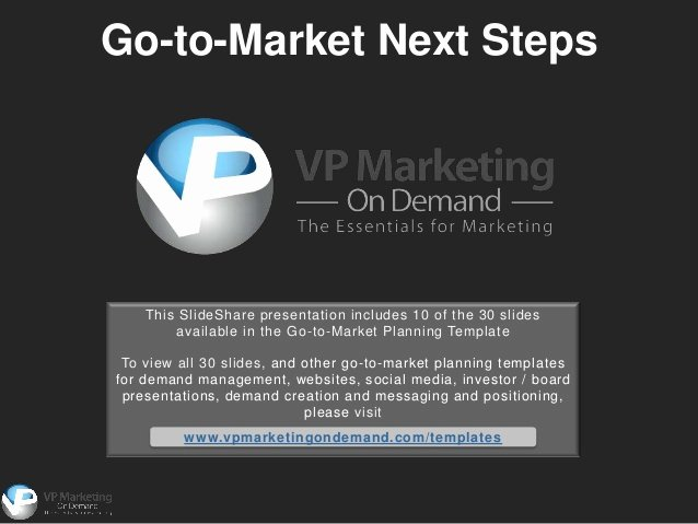 Go to Market Plan Template Inspirational Go to Market Strategy Template