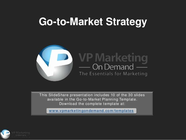 Go to Market Plan Template Luxury Go to Market Strategy Template