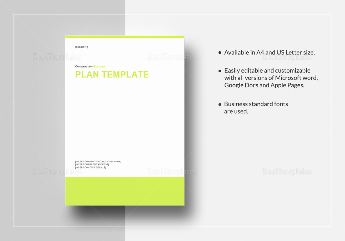 Google Business Plan Template Lovely Construction Business Plan Template In Word Google Docs