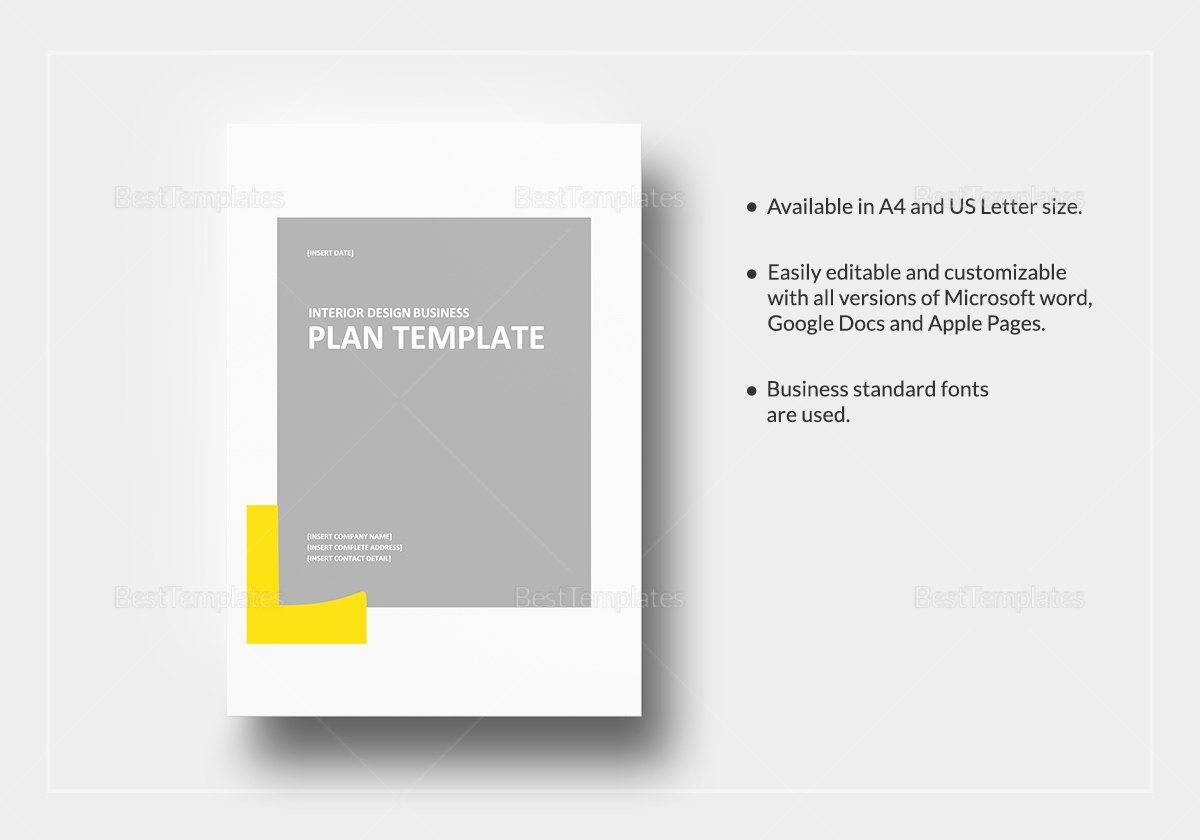 Google Business Plan Template Unique Interior Design Business Plan Template In Word Google