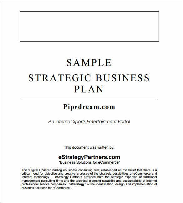 Google Business Plan Template Unique Strategic Business Planning Word Template 20 Strategic