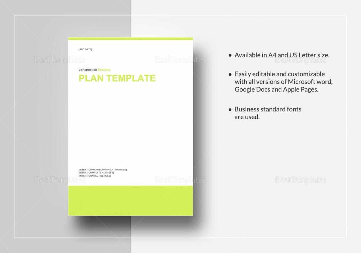 Google Doc Business Plan Template Luxury Construction Business Plan Template In Word Google Docs