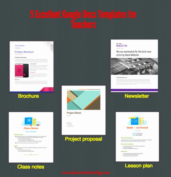 Google Doc Lesson Plan Template Elegant 5 Excellent Google Docs Templates for Teachers