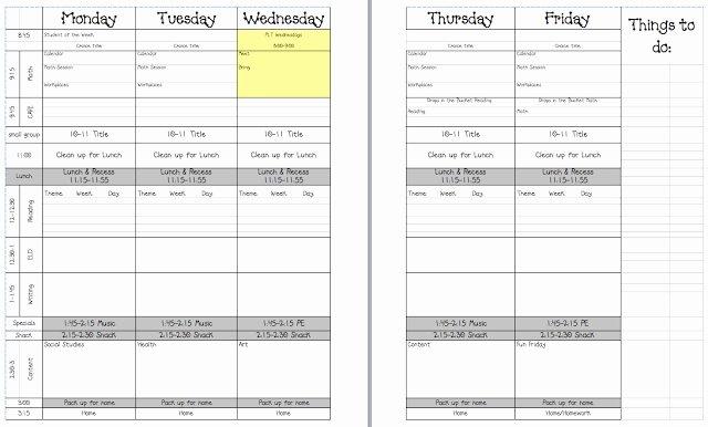 Google Doc Lesson Plan Template Unique Teacher Laura 5 Day Lesson Plan Template