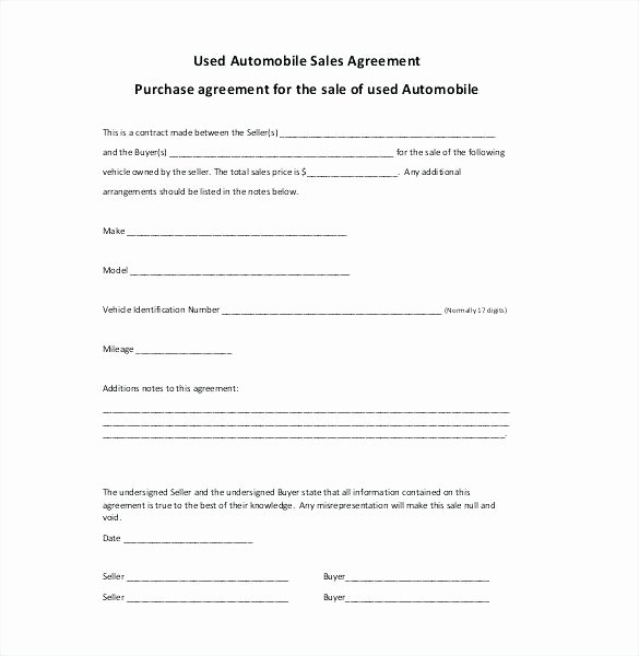 Google Docs Bill Of Sale Lovely Conditional Sale Agreement Template – Ponderapp