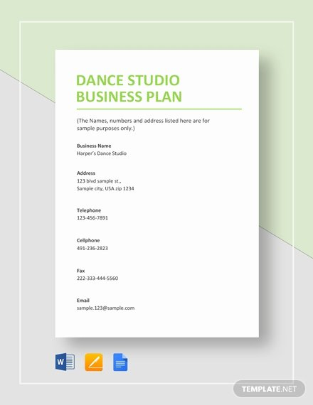Google Docs Business Plan Template Elegant 6 Dance Studio Business Plan Templates Pdf Google Docs