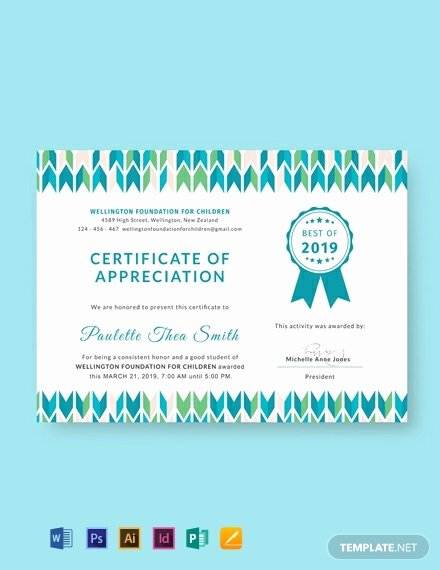 Google Docs Certificate Of Appreciation Awesome 435 Free Certificate Templates