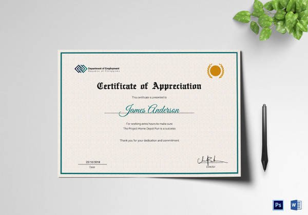 Google Docs Certificate Of Appreciation Best Of 20 Sample Employment Certificate Templates