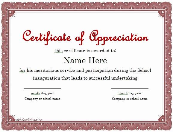 Google Docs Certificate Of Appreciation Elegant Vesting Certificate Template Uk