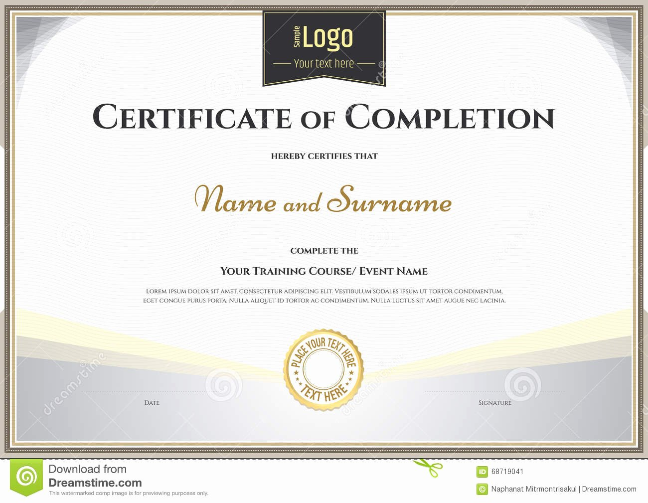 Google Docs Certificate Of Appreciation Lovely Certificate Certificate Pletion Template