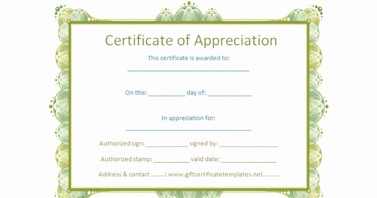 Google Docs Certificate Of Appreciation New Certificate Template Google Docs