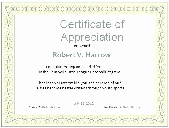 Google Docs Certificate Of Appreciation New Special Recognition Award Template Templates In Outlook