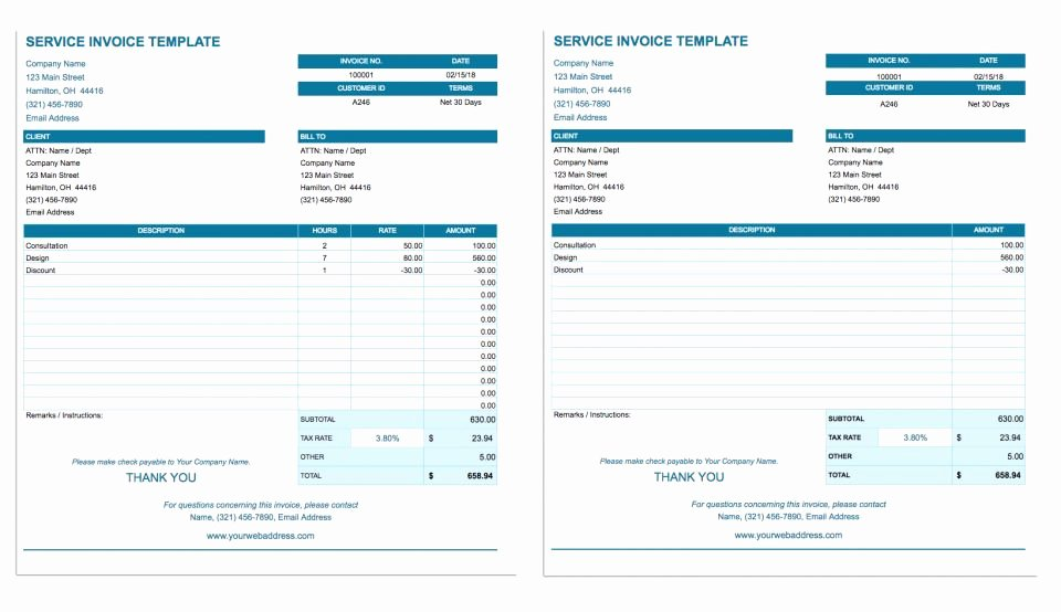 Google Docs Sales Receipt Template Best Of Free Google Docs Invoice Templates