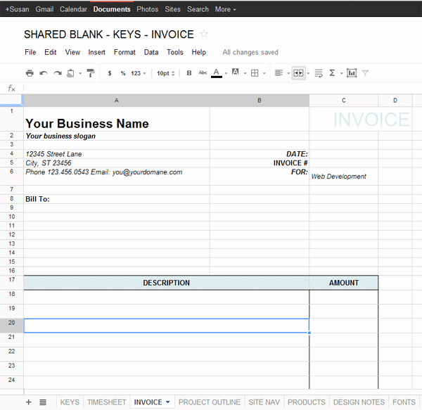 Google Docs Sales Receipt Template Best Of Google Docs Invoice Template