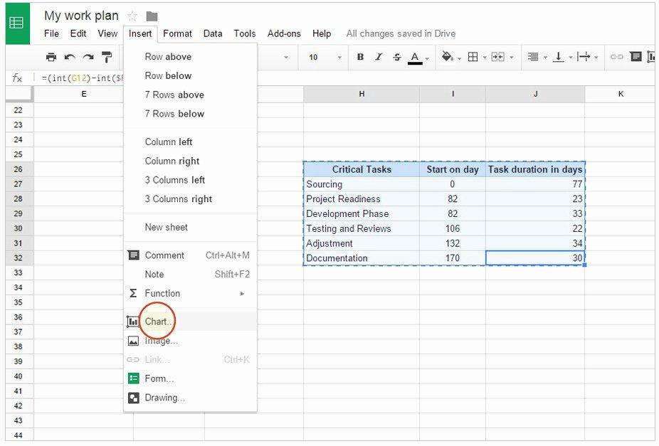 Google Drive Business Plan Template New Create A Gantt Chart In Google Spreadsheet