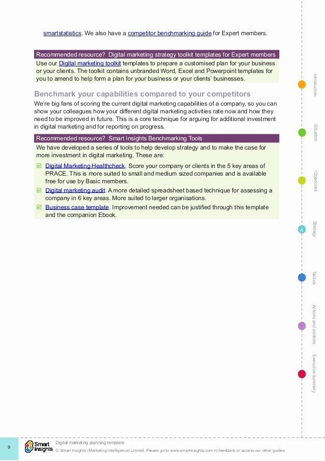 Google Drive Business Plan Template New Digital Marketing Plan Template
