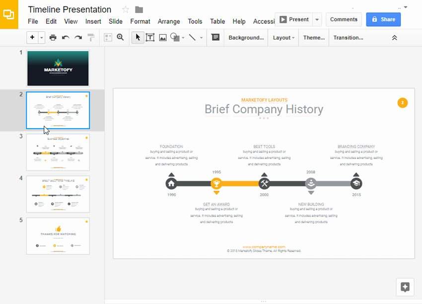Google Drive Business Plan Template New How to Make A Timeline On Google Slides with Templates