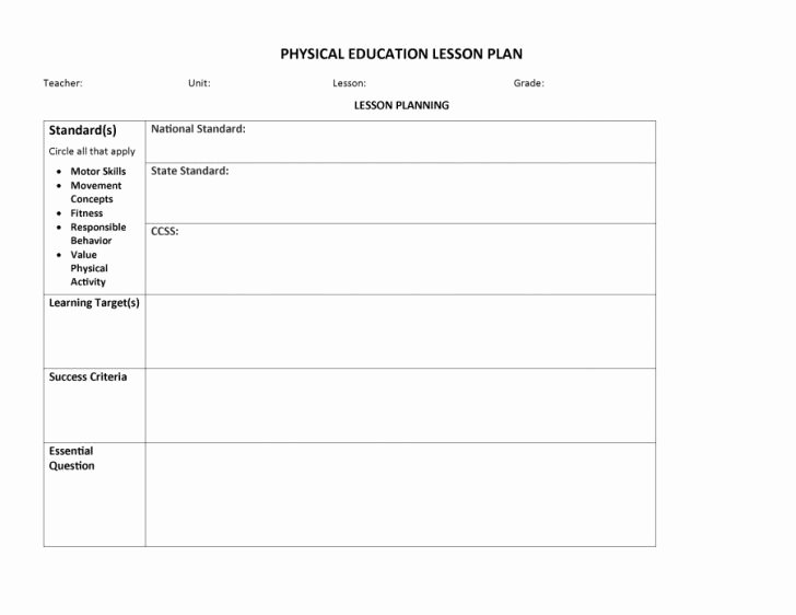 Google Drive Lesson Plan Template Best Of Pe Lesson Plan Template Ks1 Shmpfo
