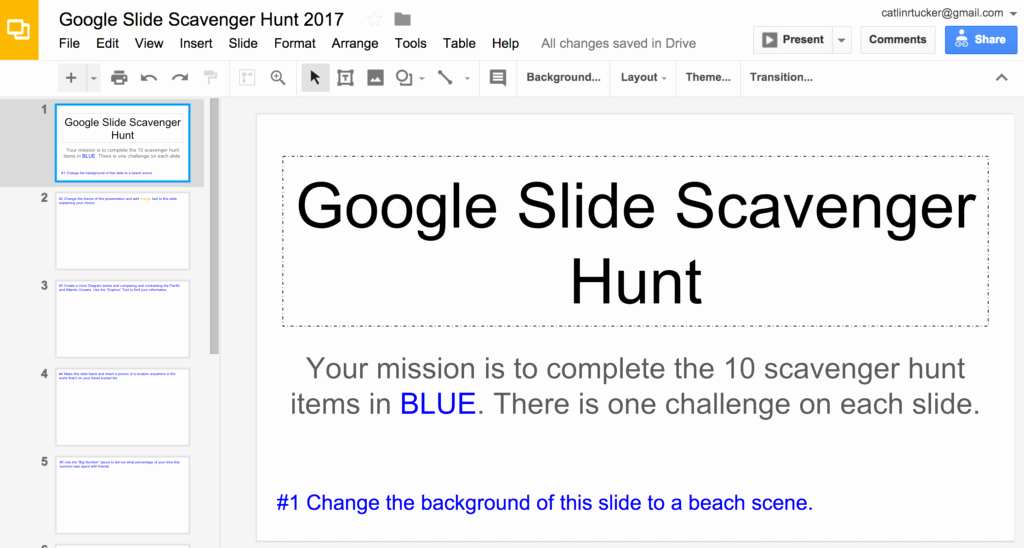 Google Drive Lesson Plan Template Lovely Google Slide Scavenger Hunt