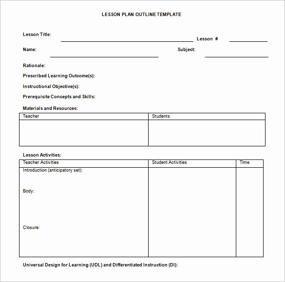 Google Drive Lesson Plan Template Unique Simple Lesson Plan Template for Teachers – Blank Lesson
