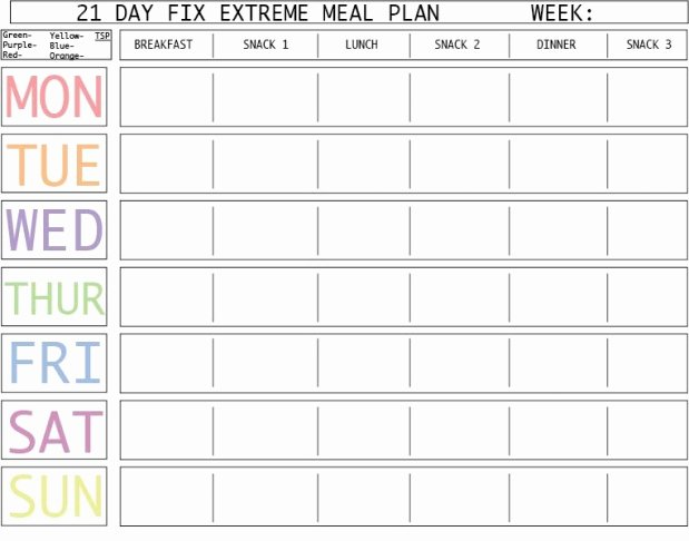 "Google Drive Meal Plan Template Beautiful Search Results for ""21 Day Fix Blank Template"" – Calendar 2015"