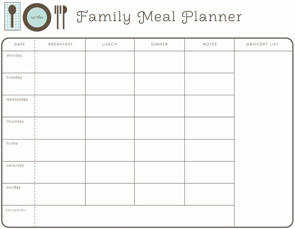 Google Drive Meal Plan Template Fresh Weekly Family Meal Planner