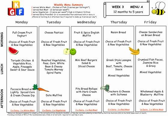 Google Drive Meal Plan Template New Little Diggers Preschool