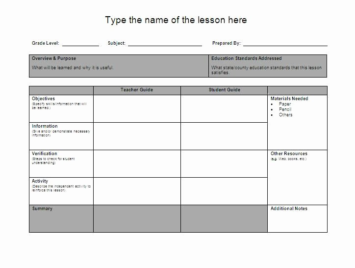 Google Lesson Plan Template Lovely Lesson Plan Template Google Search