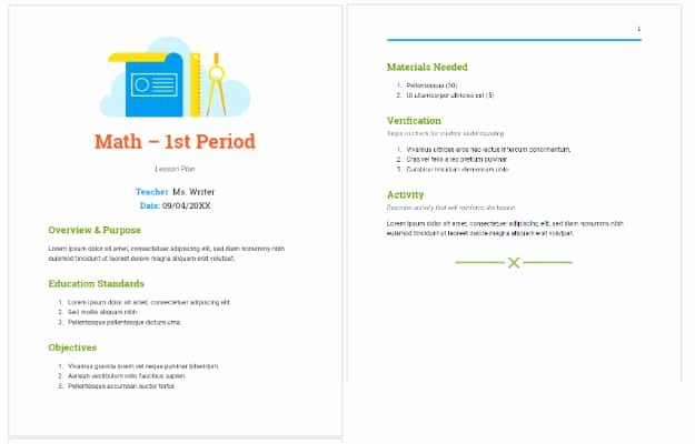Google Lesson Plan Template Luxury 7 Google Docs Templates to Make Life Easier