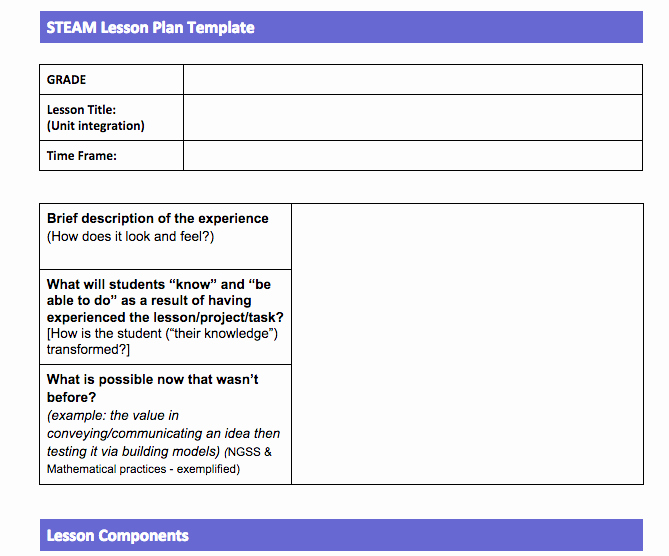 Google Lesson Plan Template New Lesson Plan Template Google Docs