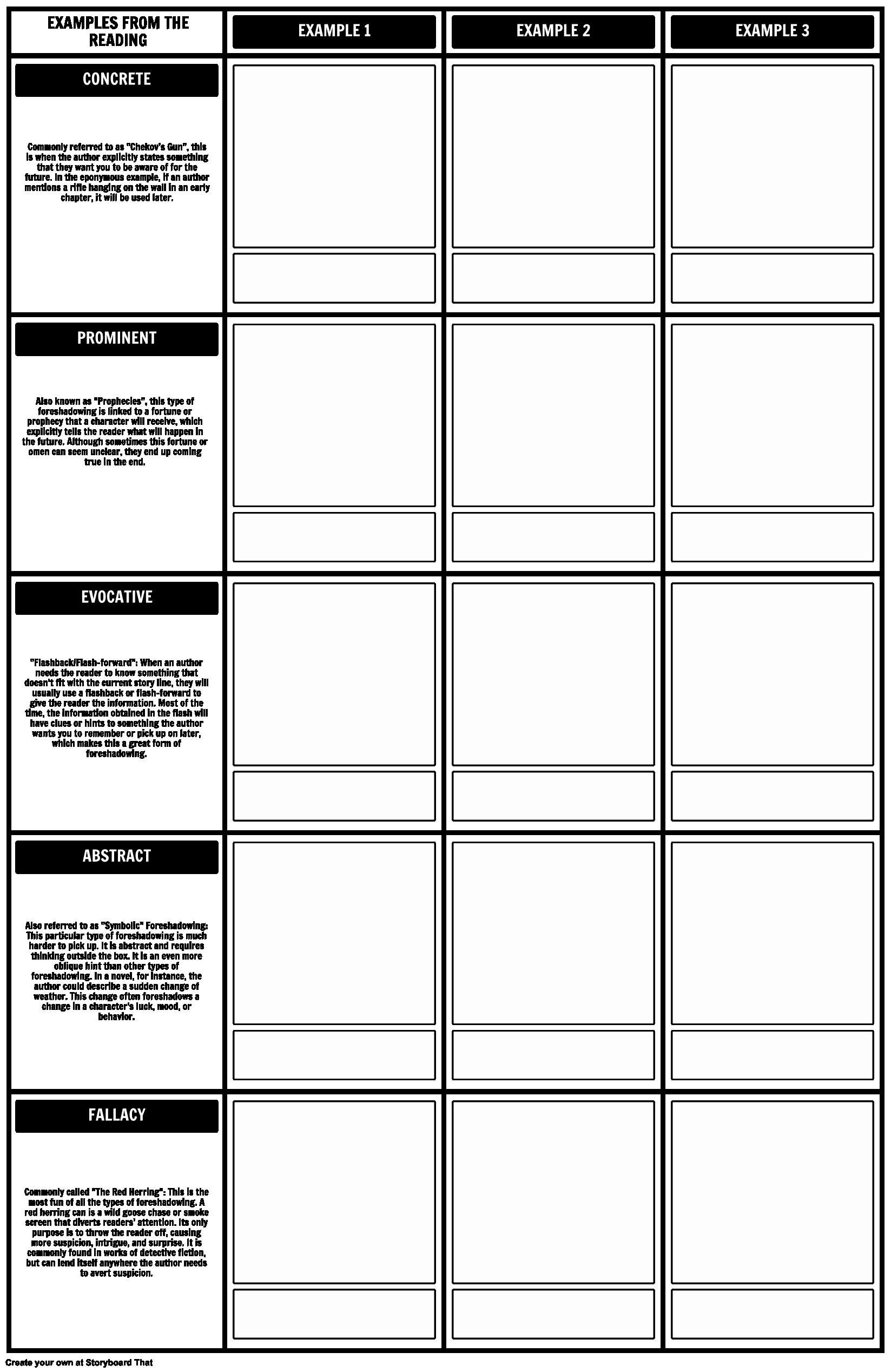 Google Sheets Lesson Plan Template Beautiful Types Of foreshadowing Worksheet Template 2