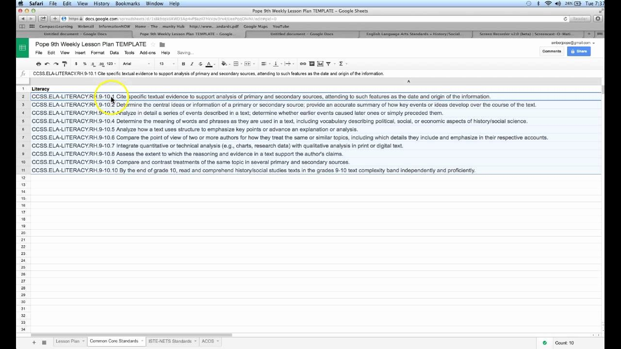 Google Sheets Lesson Plan Template Fresh Create Drop Down Menu Lesson Plan Template In Google
