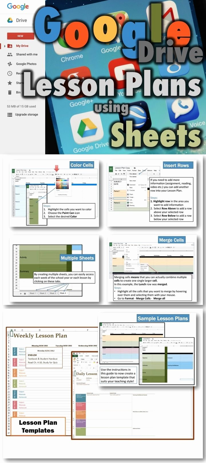Google Sheets Lesson Plan Template New Lesson Plans Using Google Drive Sheets