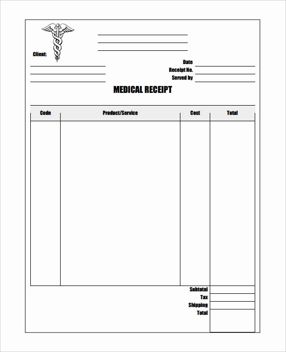 Google Sheets Receipt Template Beautiful 11 Medical Bill Receipt Template Pdf Word Excel