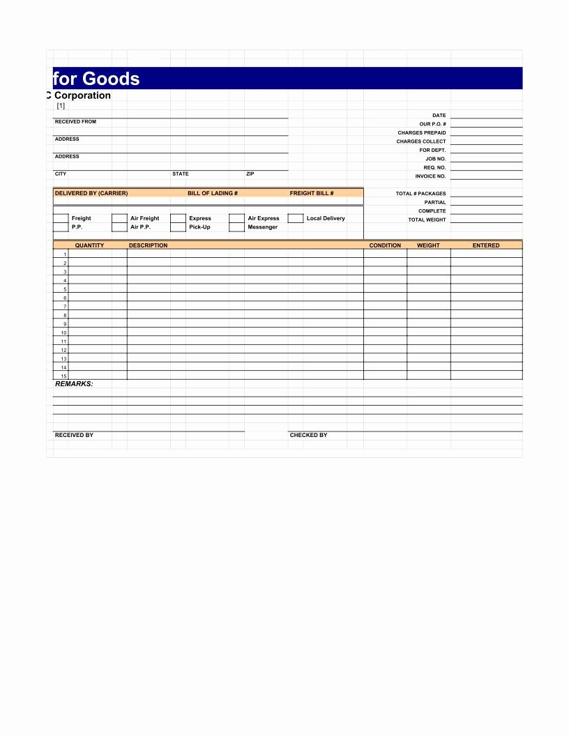 Google Sheets Receipt Template Beautiful Acknowledgement Receipt Template Pdf Google Sheet