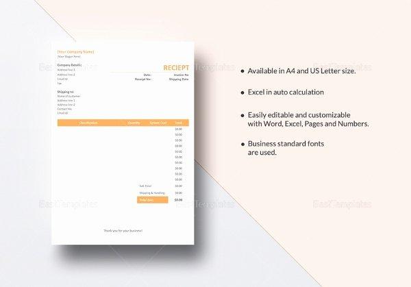 Google Sheets Receipt Template Elegant 18 Contractor Receipt Templates Doc Excel Pdf