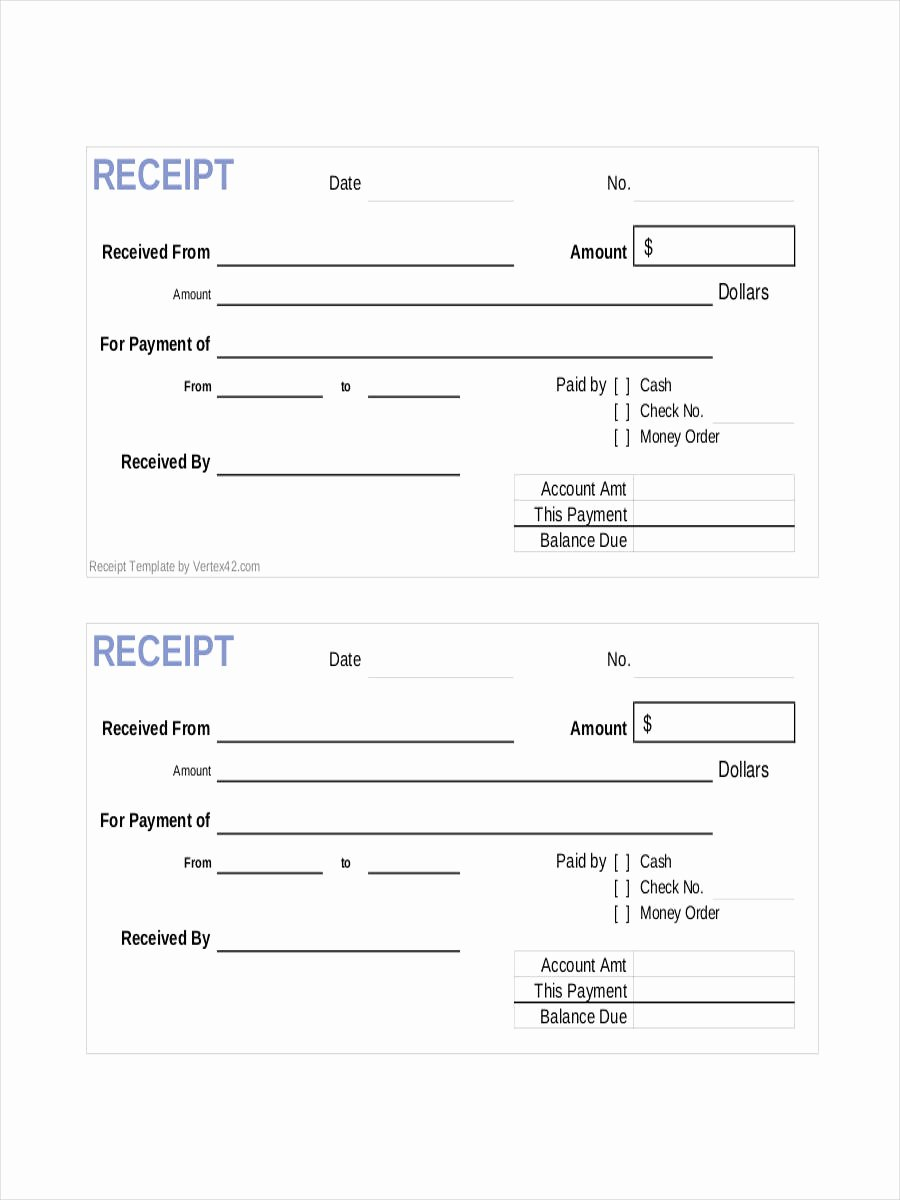 Google Sheets Receipt Template Fresh 8 Ficial Receipts Examples & Samples