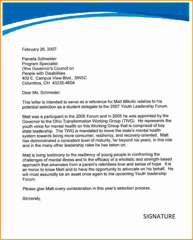 Grad School Letter Of Recommendation Fresh Letter Re Mendation for Grad School
