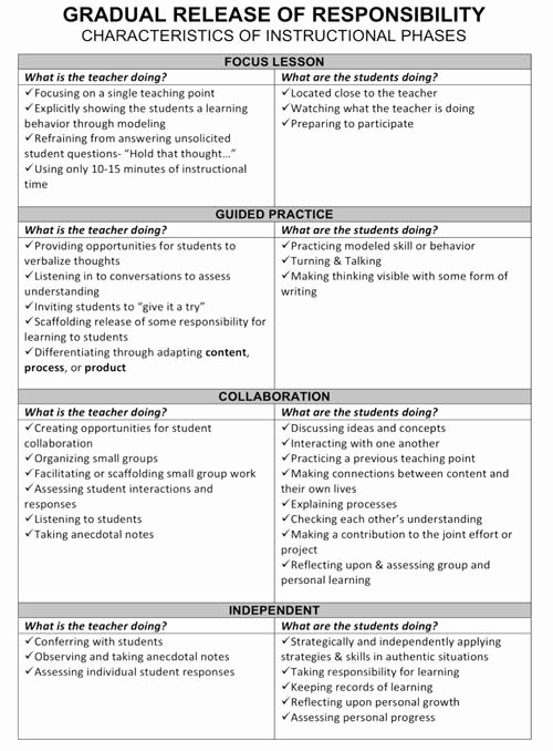 Gradual Release Lesson Plan Template Luxury 27 Of Workshop Model Instruction Template