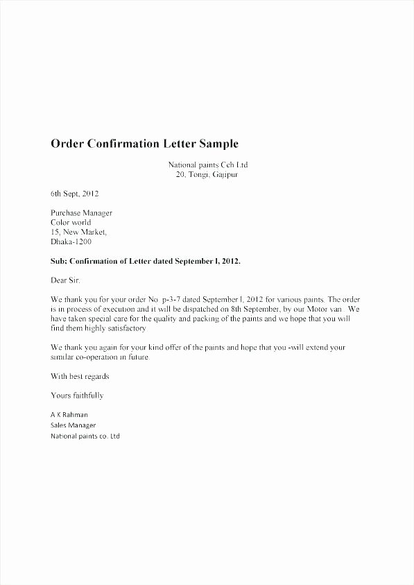 Grant Acknowledgement Letter Elegant order Confirmation Template Word Jeopardy Templates for