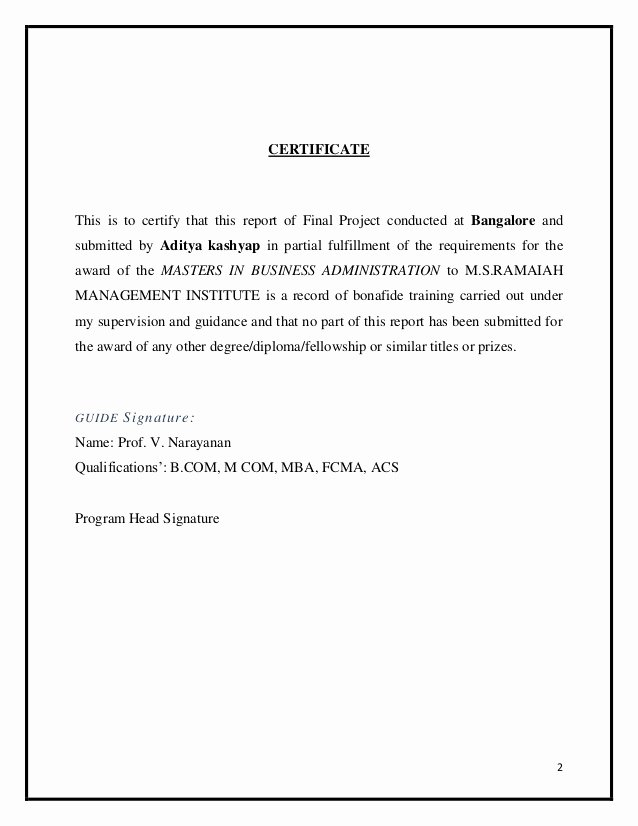 Grant Acknowledgement Letter Inspirational Project On Mutual Funds