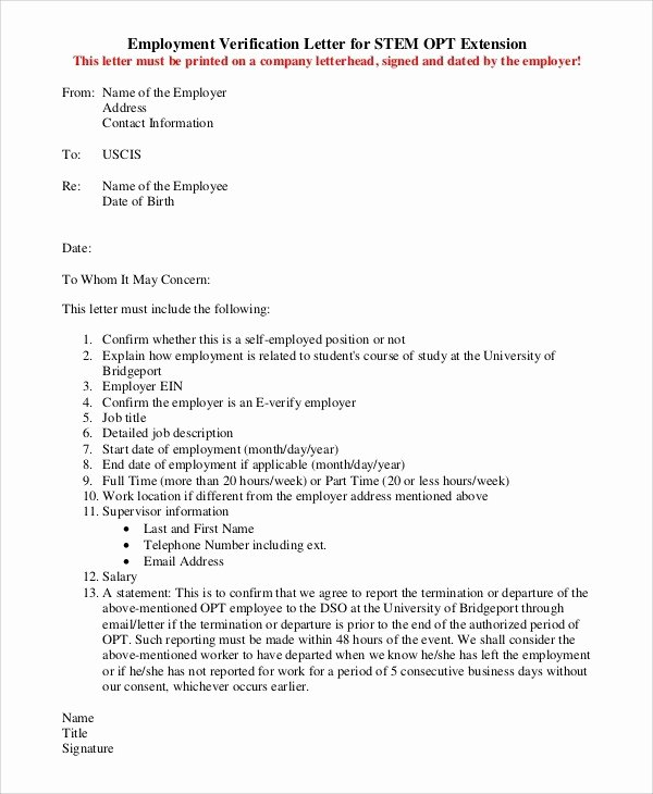 Green Card Recommendation Letter Luxury Uscis Employment Verification Letter Letter Of