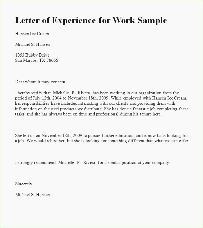 Green Card Recommendation Letter Sample New Experience Letter format for Green Card – thepizzashop