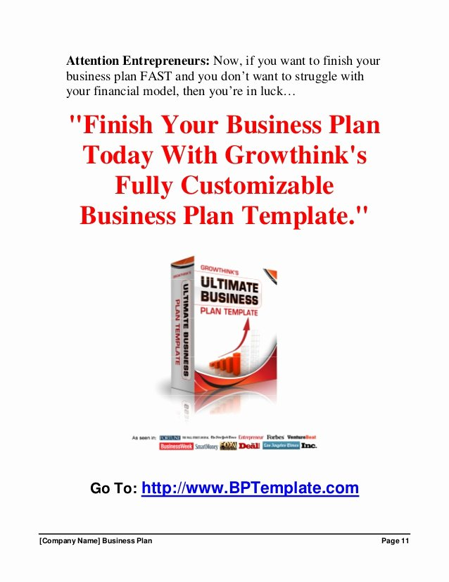 Growthink Business Plan Template Elegant Growthink Business Plan Template Free Download
